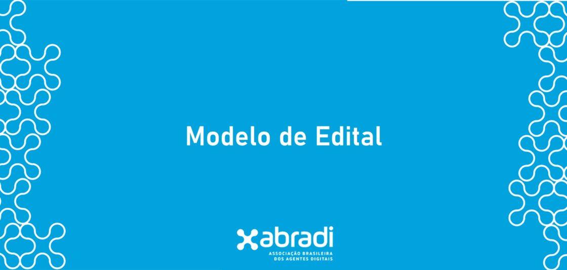 modelo de edital